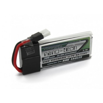 Turnigy Nano-Tech 300mAh 1S 45 - 90C Lipo Pack (Fits Nine Eagles Solo-Pro 100)