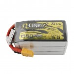 Tattu R-Line Version 3.0 1400mAh 22,2V 120C 6S1P Lipo Battery Pack with XT60 Plug