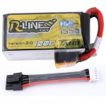 Tattu R-Line 1550mAh 100C 4S1P 15.2V HV Lipo Battery -Version 2.0 With Detachable Balance Cable