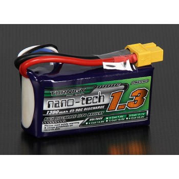 Turnigy nano-tech 1300mAh 3S 45-90C Lipo Pack