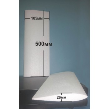 Крило симетричен профил 500мм х 185мм х 26мм