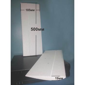 Крило едностранно изпъкнал профил 500мм х 185мм х 19мм (5х10мм.)