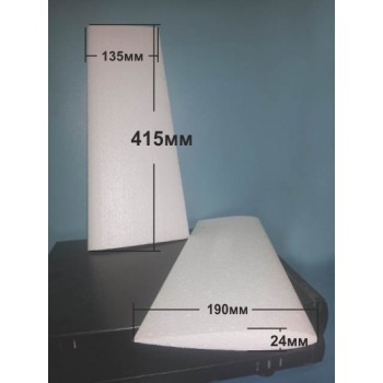 Крило симетричен профил 500мм х 135-190мм(трапец)  х 24мм